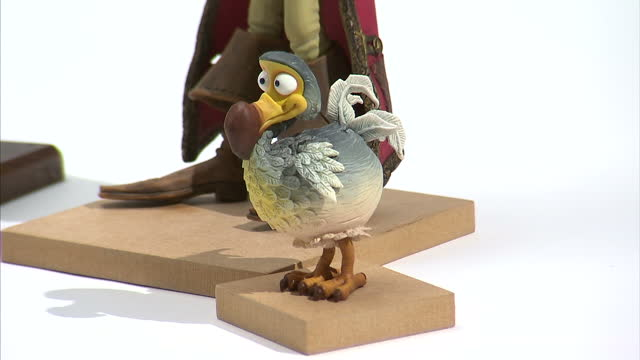 interior shots plasticine figures from the stopmotion film 'the pirates in an adventure with scientists' plasticine figures from the pirates film at... - cartoon stock videos & royalty-free footage