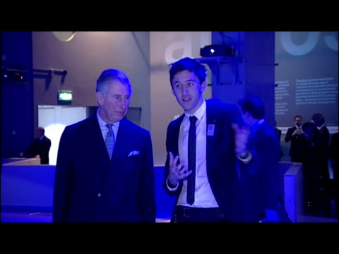 interior shots prince charles at the science museum looking at climate change exhibits & chatting with museum staff prince charles visits the science... - 40 seconds or greater stock videos & royalty-free footage
