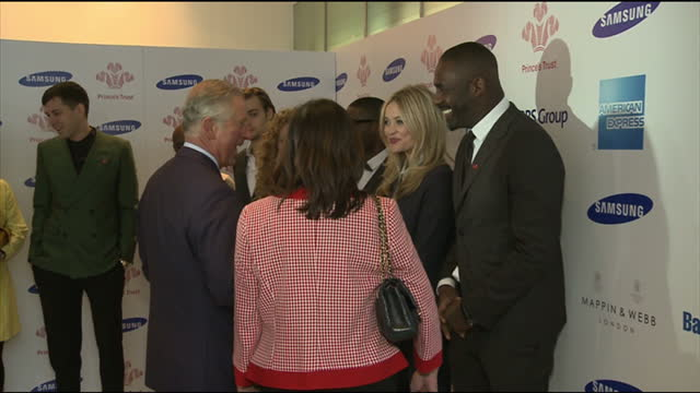 Interior shots Prince Charles chats with Idis Elba others Prince Charles Chats to Idris Elba on March 26 2013 in London England