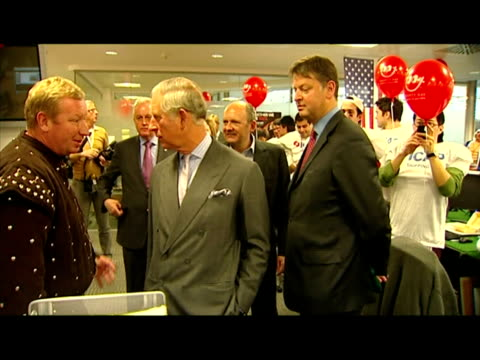 Interior shots Prince Charles chats with people at Princes Trust charity event Prince Charles at Princes Trust charity event on December 08 2010 in...