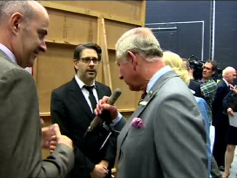 interior shots prince charles shown dalek voice equipment says 'exterminate, exterminate... you are our prisoners to laughter from crowd and goes on... - ドクター フー点の映像素材/bロール
