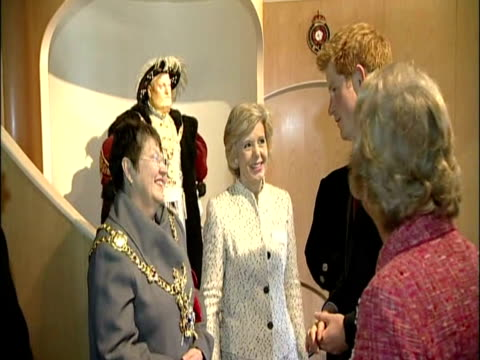 interior shots prince harry arrives at mary rose trust portsmouth historic dockyard sky news on march 18 2011 in london england - 50 seconds or greater stock videos & royalty-free footage