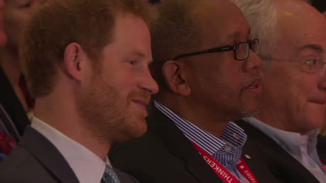 durban interior shots prince harry sat in crowd watching charity workers on stage performing traditional dance - hiv aids conference stock videos & royalty-free footage