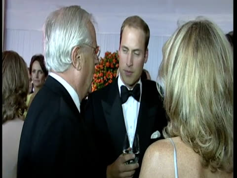 interior shots prince william & catherine, duchess of cambridge chat with guests at the 10th annual ark gala dinner, perks field, kensington palace... - 40 seconds or greater stock videos & royalty-free footage