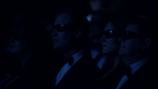 interior shots prince william catherine putting on their 3d glasses watching screening prince william and catherine wearing 3d glasses at the natural... - 3d glasses stock videos & royalty-free footage