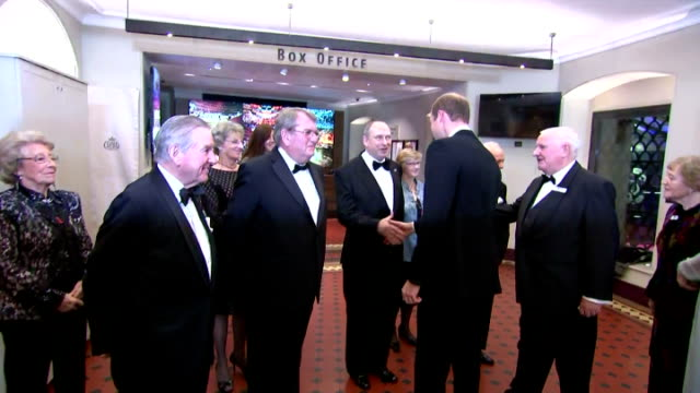 vídeos de stock, filmes e b-roll de interior shots prince william, duke of cambridge, and catherine duchess of cambridge arriving at the royal world premiere of 'spectre' at royal... - série de filmes do james bond