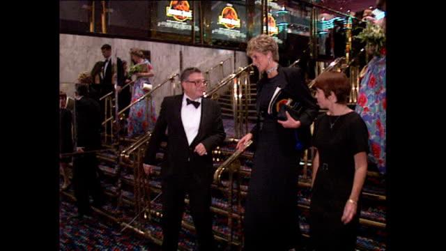 interior shots princess diana departs jurassic park film premiere on november 20, 1995 in london, england. - princess stock videos & royalty-free footage