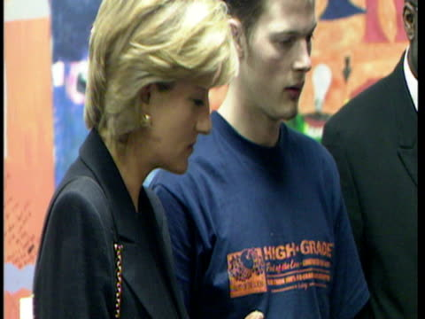interior shots princess of wales visiting centrepoint homeless project in london princess of wales visits homeless project at centrepoint on march 10... - 1997 stock videos & royalty-free footage
