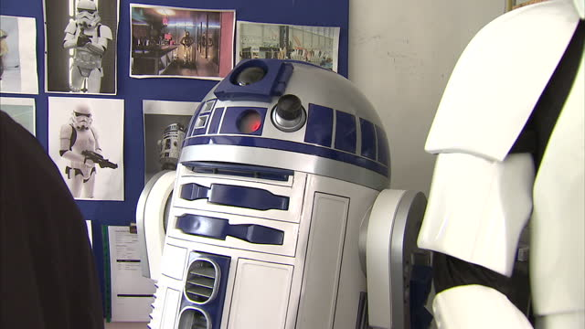 interior shots replica r2d2 prop made by shepperton design studios replica star wars r2d2 prop on may 11 2013 in london england - shepperton studios stock videos & royalty-free footage