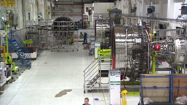 interior shots rolls royce engineering, aircraft engine laboratory, engineers working on engine on november 15, 2016 in derby, england. - rolls royce stock videos & royalty-free footage