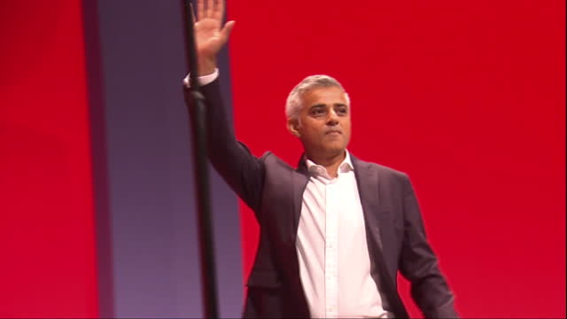 interior shots sadiq khan mayor of london labour party at labour party conference on september 27 2016 in liverpool england - sadiq khan stock videos & royalty-free footage