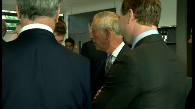 Interior shots showing Prince Charles Prince of Wales talking with guests ahead of Invictus Games opening ceremony on September 10 2014 in Stratford...