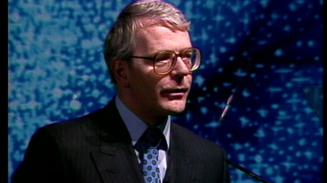 Interior shots speech by John Major for the launch of the National Lottery on November 14 1994 in London England
