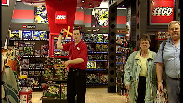 interior shots staff in hamleys toy shop giving demonstrations using toys on sale in the store on october 01 1997 in london england - toy store stock videos and b-roll footage
