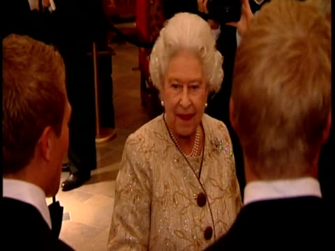 interior shots the queen chats with guests dignitaries at an event of mark the 400th anniversary of the king james bible the queen at king james... - religious equipment stock videos & royalty-free footage