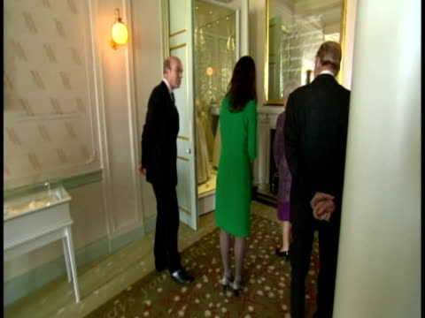 interior shots the queen prince philip tour the reopened sections of kensington palace after refurbishment meet chat to various staff queen philip... - kensington palace video stock e b–roll