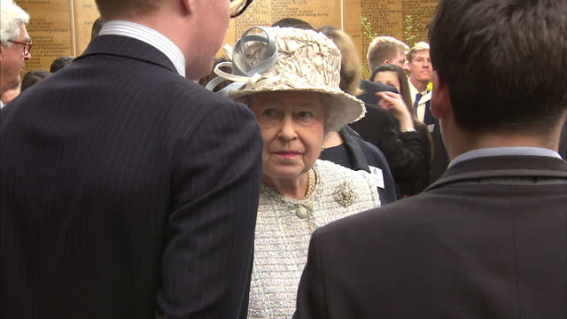 interior shots the queen talking with students and looking at gcse art projects. on march 06, 2014 in cobham, england. - general certificate of secondary education stock videos & royalty-free footage