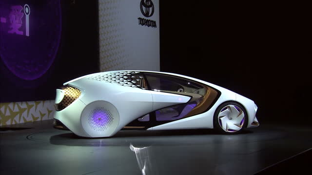 interior shots toyota unveil the concepti autonomous car on stage at the ces tech show 2017 **warning clip is mute** on january 05 2017 in las vegas... - launch event stock videos & royalty-free footage