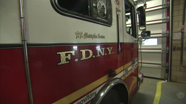 interior shots views of fire engines in battalion 9 of the new york city fire department on july 20 2011 in new york united states - fire department of the city of new york stock-videos und b-roll-filmmaterial
