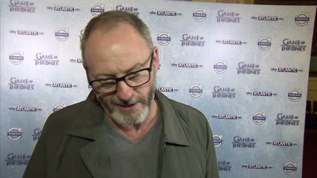interior shows liam cunningham actor game of thrones interview on march 20 2014 in london england - liam cunningham stock videos & royalty-free footage
