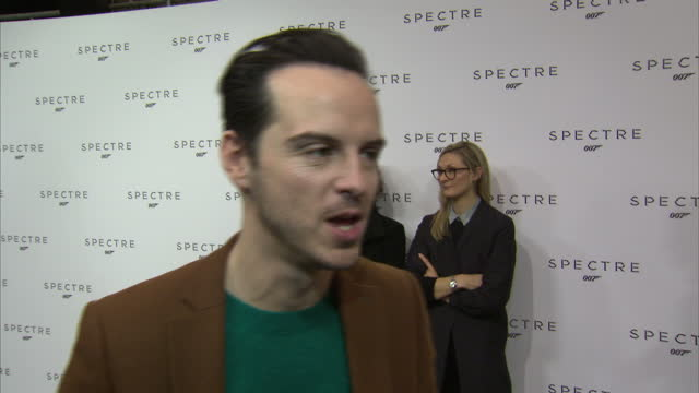 interior soundbite with actor Andrew Scott speaking about joining the James Bond film franchise in the forthcoming film 'Spectre'>> on December 04...
