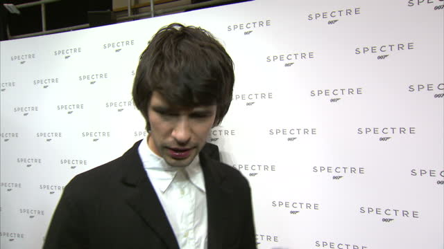 interior soundbite with actor ben whishaw speaking about returning as 'q' in the forthcoming new james bond film 'spectre'.>> on december 04, 2014 in... - ben whishaw stock videos & royalty-free footage