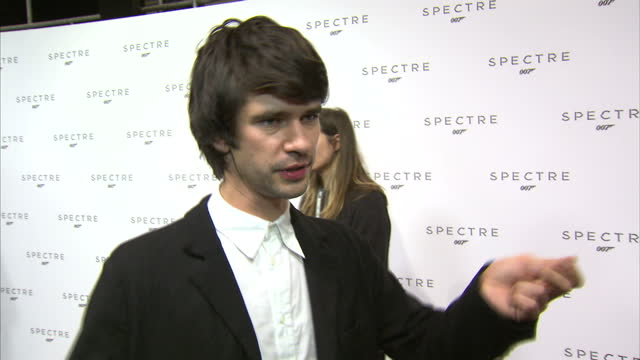 Interior soundbite with actor Ben Whishaw speaking about the excitement of the cast and crew returning to a new Bond film after 'Skyfall' and the...