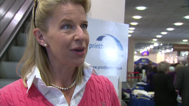 interior soundbite with columnist and presenter katie hopkins speaking about her unapologetic views on the european refugee crisis and her hopes that... - columnist stock videos & royalty-free footage