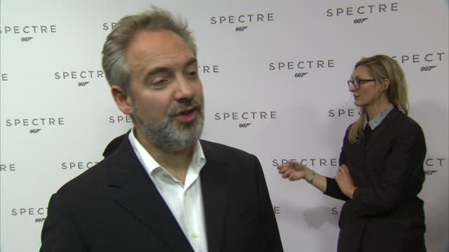 Interior soundbite with director Sam Mendes speaking about why he decided to return to direct another James Bond movie saying that he particularly...