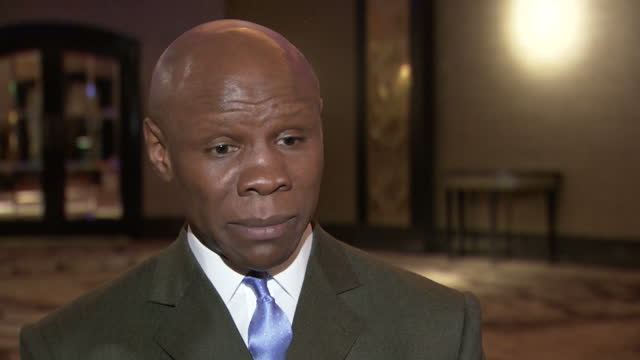 interior soundbite with former boxer chris eubank speaking about how he does not think any changes need to be made to make boxing safer, saying these... - chris eubank sr. stock videos & royalty-free footage