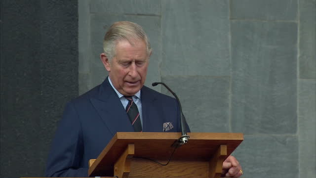Interior soundbite with Prince Charles speaking about hearing The Lord's Prayer said in Aramaic reminding him of the Christian tradition in the...
