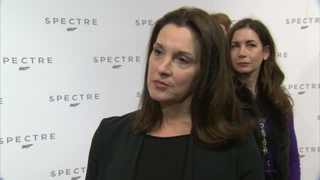 Interior soundbite with producer Barbara Broccoli speaking about persuading director Sam Mendes to direct another James Bond film after 'Skyfall' and...