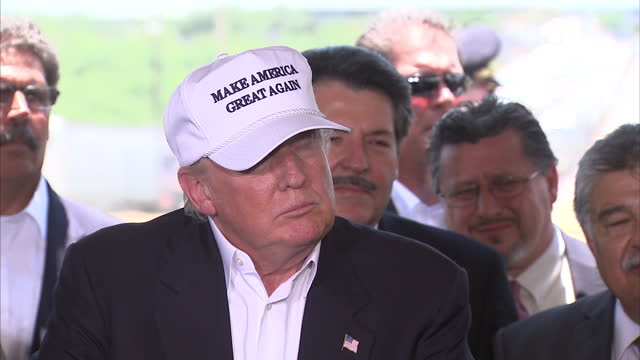 Interior soundbite with Republican presidential candidate Donald Trump speaking during a campaign press conference about the 'danger' on the USMexico...