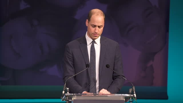 Interior speech by Prince William speaking at the Children's Global Media Summit in Manchester Central Convention Complex on 6th December 2017...
