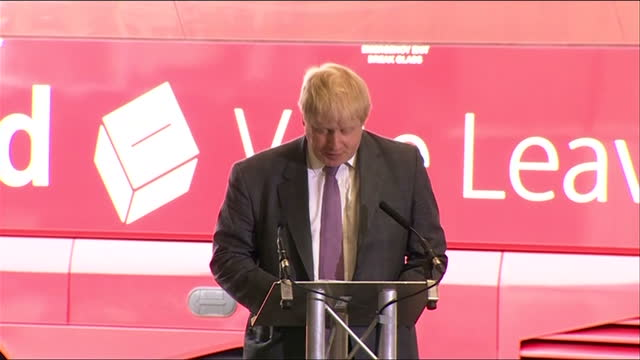 interior speech from boris johnson mp about why britain should leave the european union part six on may 12 2016 in christchurch dorset - referendum stock-videos und b-roll-filmmaterial