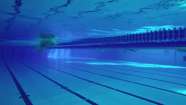 interior underwater shots of olympic swimmer amy willmott training at the london aquatics centre in queen elizabeth olympic park on 27 april 2016 in... - underwater stock videos & royalty-free footage