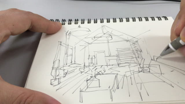 interior - sketch stock videos & royalty-free footage