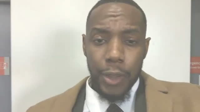 interior video interview with barry white junior school teacher from north carolina who greets each of his pupils every day with an individual... - carolina beach stock videos & royalty-free footage