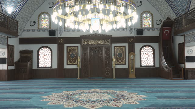 interior view of a mosque - tracking shot stock videos & royalty-free footage