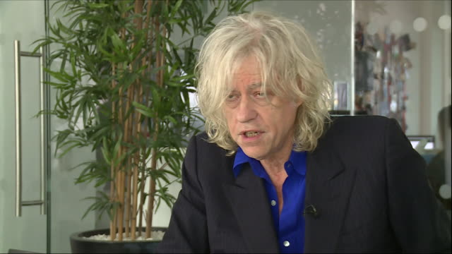 interior view of an interview with bob geldof talking about his open letter to theresa may about brexit and the music industry on october 06 2018 in... - brexit stock-videos und b-roll-filmmaterial