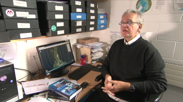 interior view of an interview with dr philippe blondel senior lecturer department of physics at university of bath talking about the science and... - java stock videos & royalty-free footage