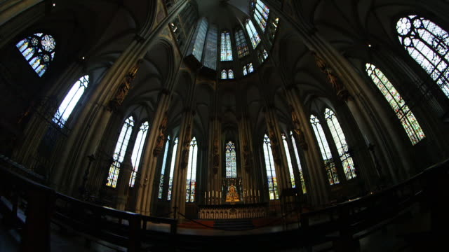 WS PAN Interior view of Cologne Cathedral / Cologne, Germany