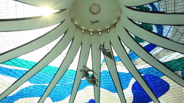 Interior view of Metropolitan Cathedral of Brasilia