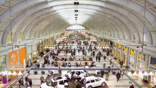 ws t/l interior view of stockholm central station / stockholm, stockholm, sweden - stockholm stock videos & royalty-free footage