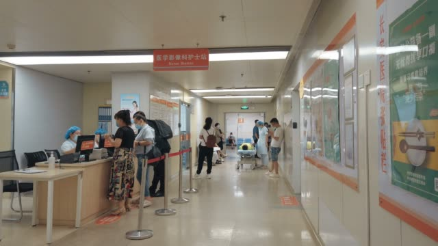 interior view of the hospital - queuing stock videos & royalty-free footage