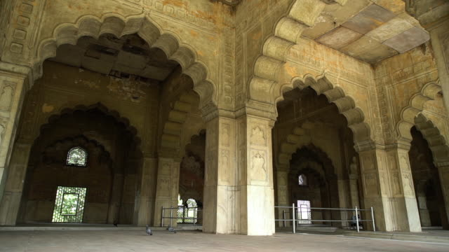 interior view of the  multifoil arches. - mughal empire stock videos and b-roll footage
