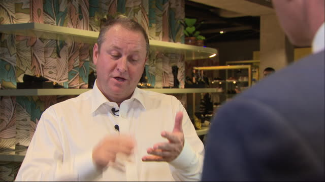interior views of an interview with mike ashley after the spots direct agm on 11 september in london, united kingdom. - 年次総会点の映像素材/bロール