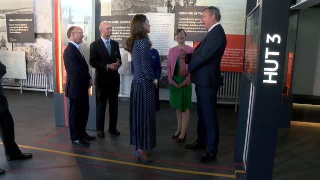 GBR: The Duchess of Cambridge visits Bletchley Park to view a special D-Day exhibition in the newly restored Teleprinter Building.