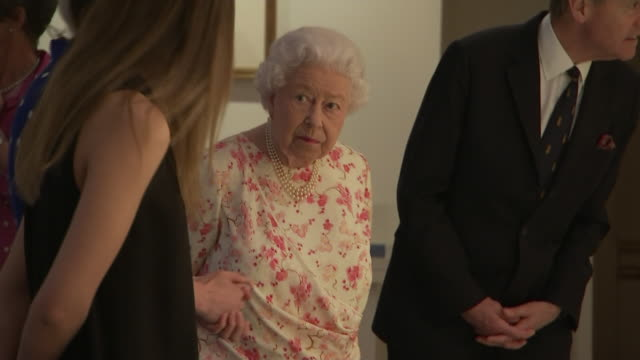 GBR: The Queen visits exhibition about Queen Victoria at Buckingham Palace.