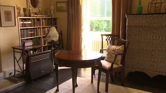 interiors agatha christies living room, various belongings and her bedroom agatha christies house greenway in devon at greenway on september 04, 2013... - devon stock videos & royalty-free footage